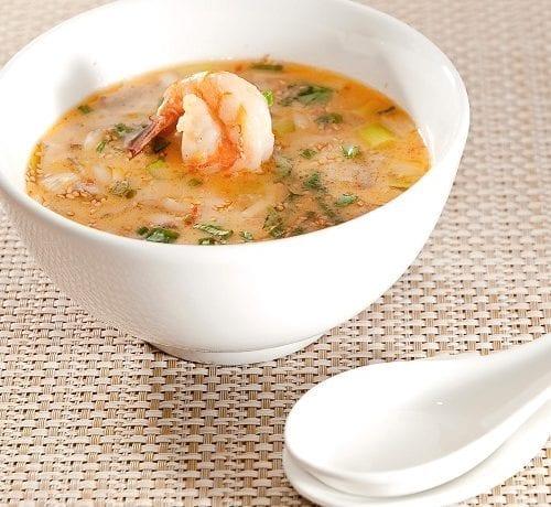 Chaudrée de poissons et crevettes