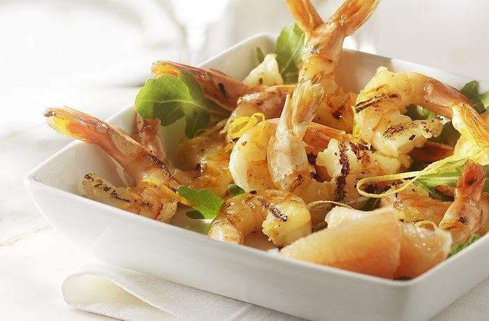 Crevettes en marinade d'agrumes