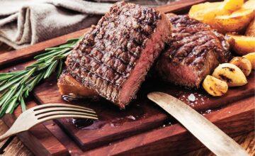 Steak de flanc au barbecue, en pommade sèche