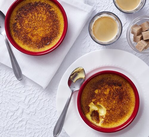 Crème brûlée à l'orange et cardamome