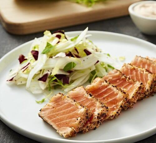 Tataki de saumon frais